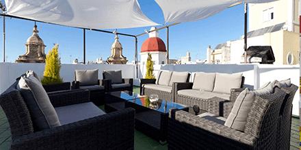 Azotea del Hotel Las Cortes de Cádiz