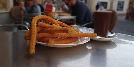 Especialidad en churros Café-Bar La Marina Cádiz