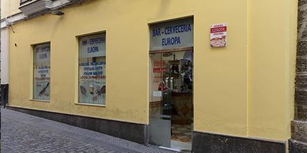 Exterior Freiduría & Cervecería Europa Cádiz