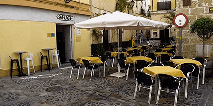 Terraza Garage Bistro&Bar Cádiz