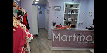 Interior tienda Martina
