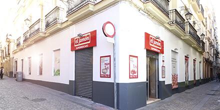Exterior Supermercados el jamón calle Obispo Urquinaona Cádiz