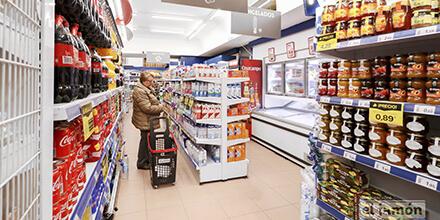 Interior Supermercados el jamón calle Obispo Urquinaona Cádiz