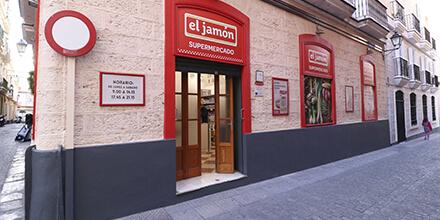 Exterior Supermercados El Jmaón calle Plata, Cádiz