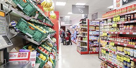 Interior Supermercados El Jamón de la Plaza de las Canastas Cádiz