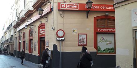 Exterior SUpermercados el Jamón de la Calle San Francisco