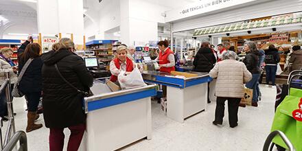 Interior supermercados el Jamón de la Calle San Francisco