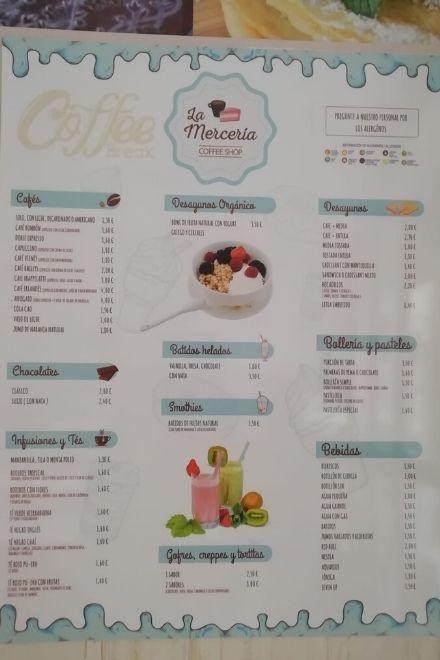 Carta La Merceria Coffe Shop
