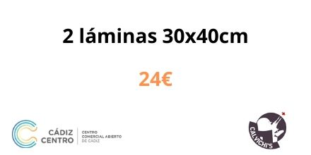 2 láminas 30x40cm 24€